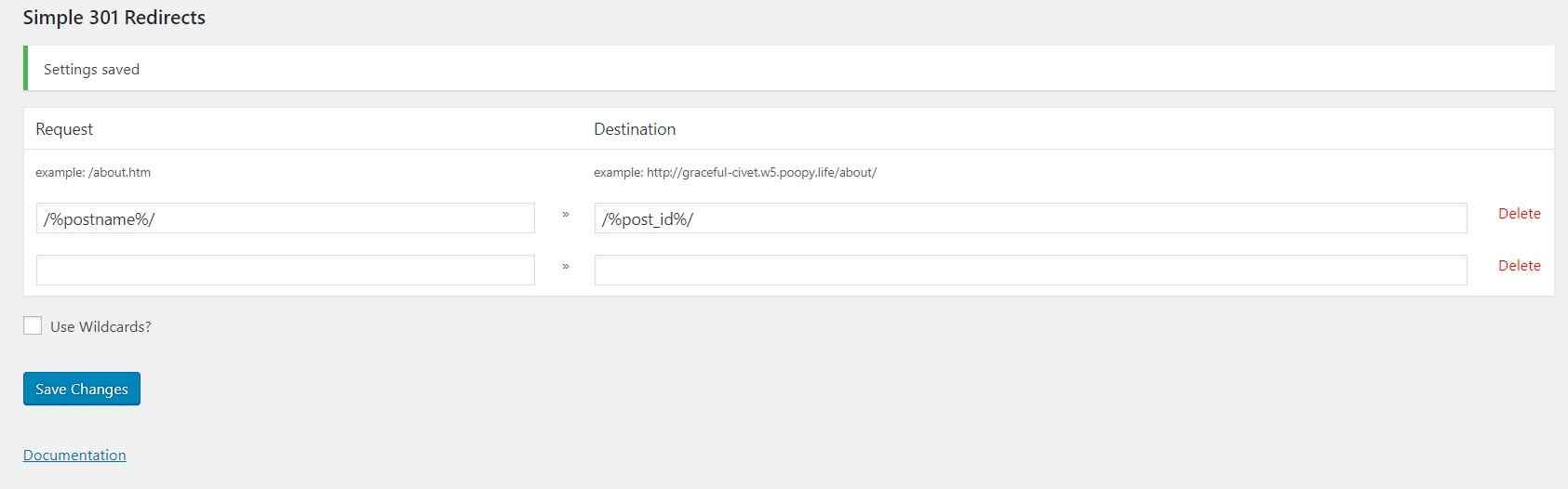 Thay đổi permalink wordpress và chuyển hướng 301 từ url cũ sang url mới