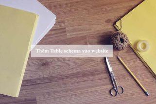 table schema website
