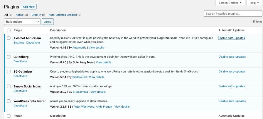 Auto-updates cho Plugins và Themes wp 5.5