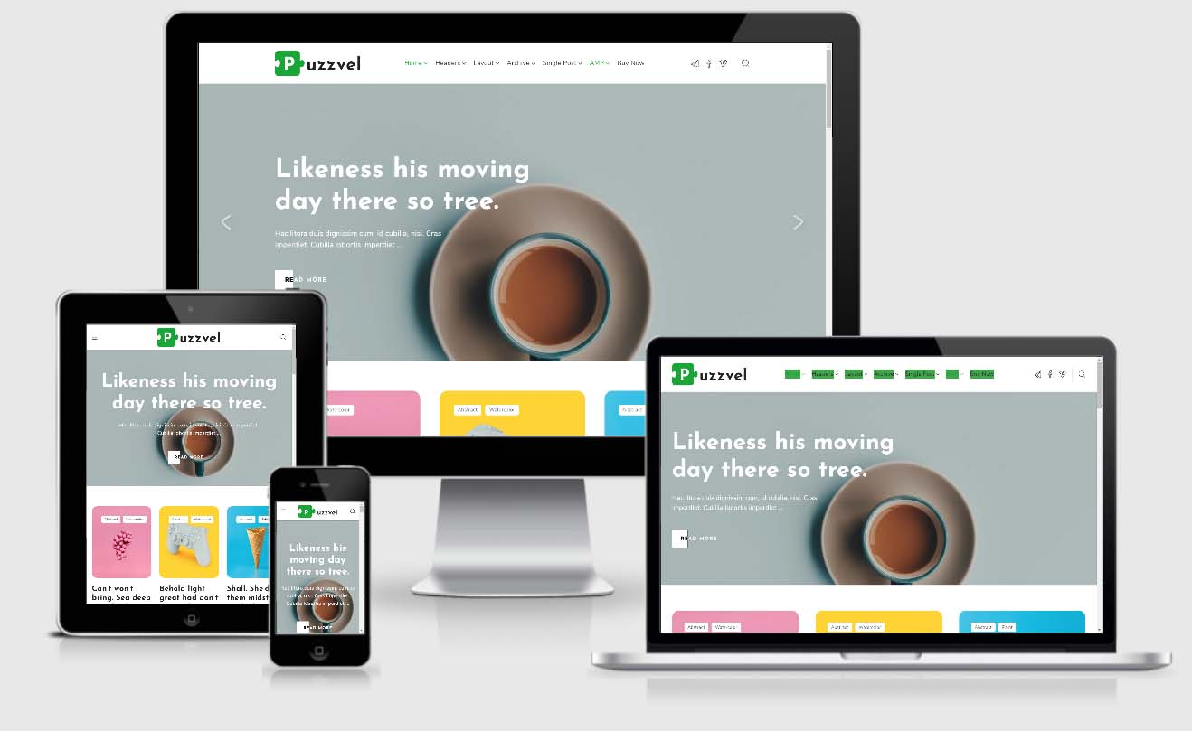 Puzzvel – AMP and non AMP Blog WordPress Theme