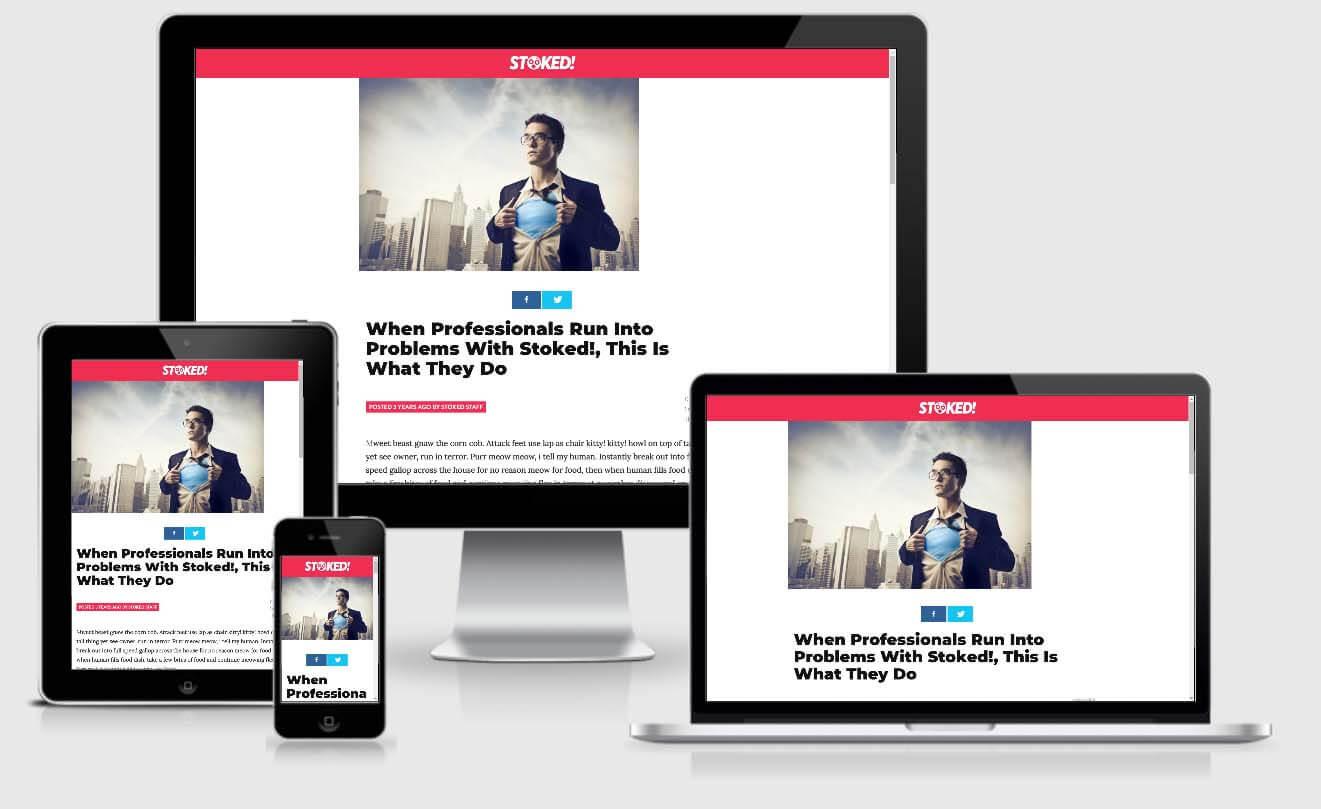 Stoked - Viral Magazine AMP WordPress Theme