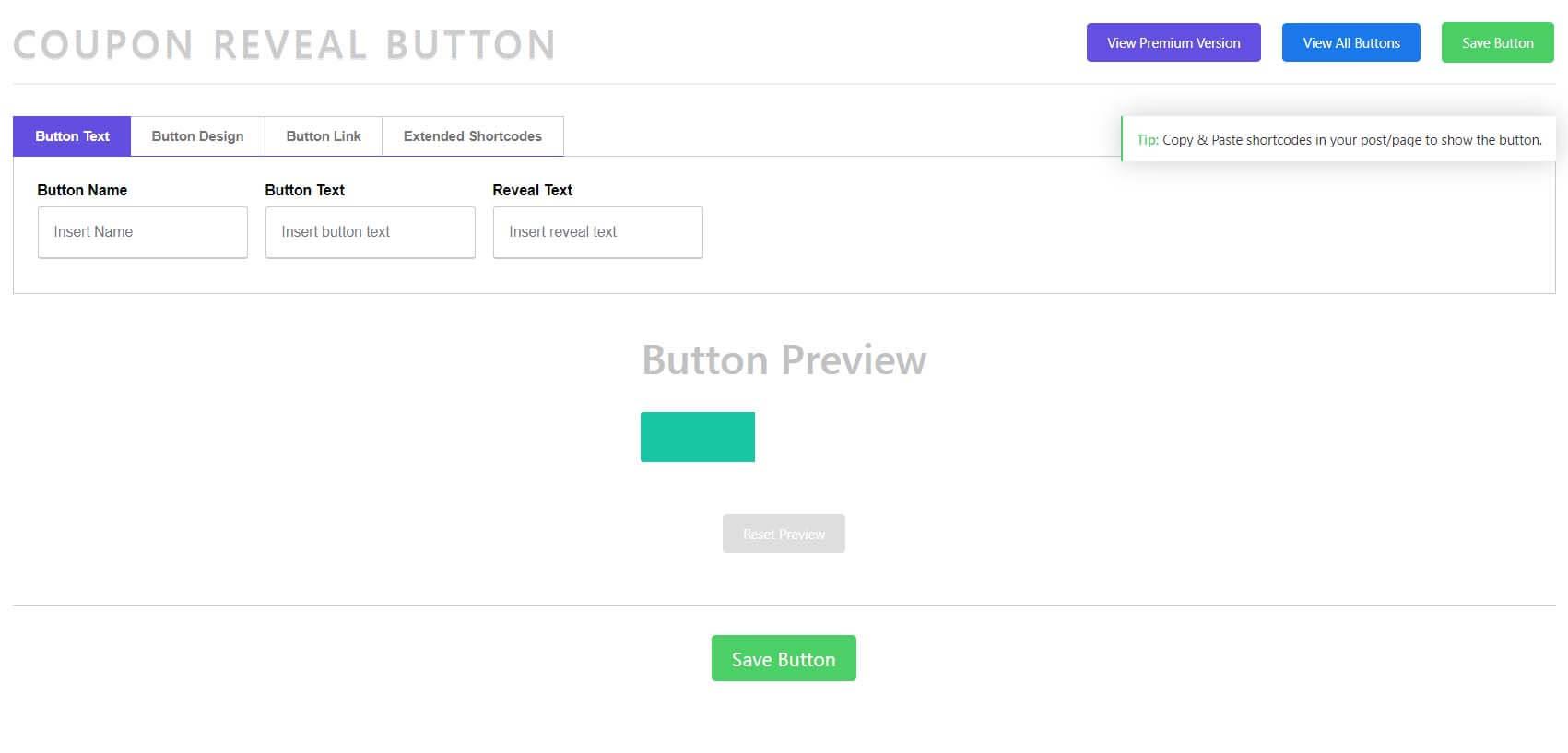 Coupon Reveal Button
