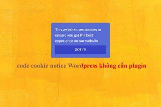 Chèn code cookie notice Wordpress không dùng plugin rất dễ