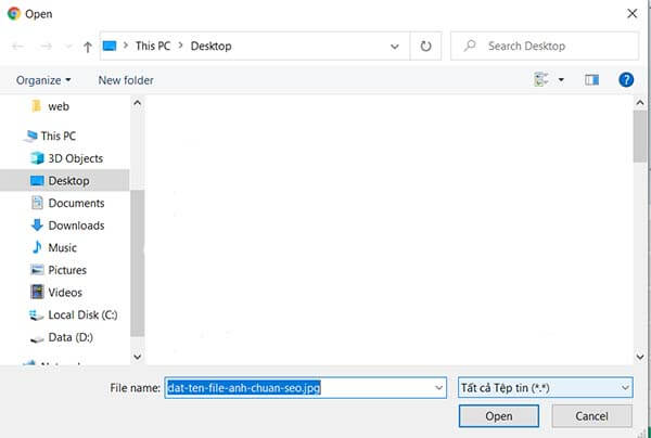 Đặt tên file ảnh chuẩn giúp tối ưu hình ảnh trong seo