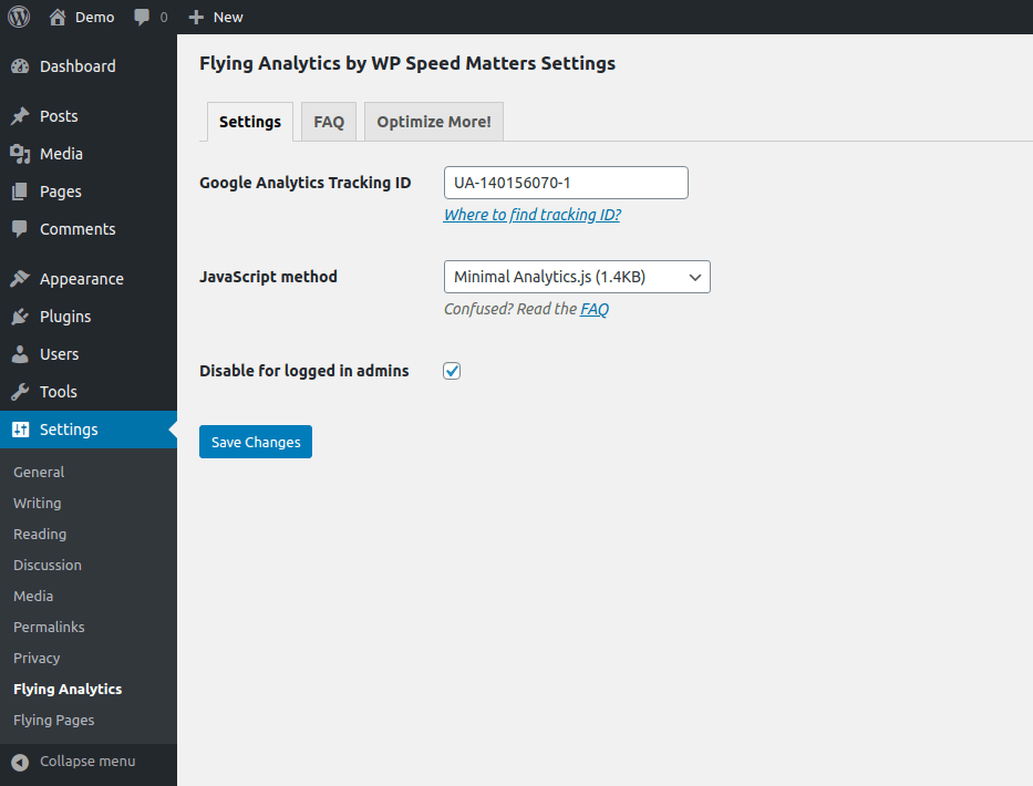 disable Analytics when admin is logged in