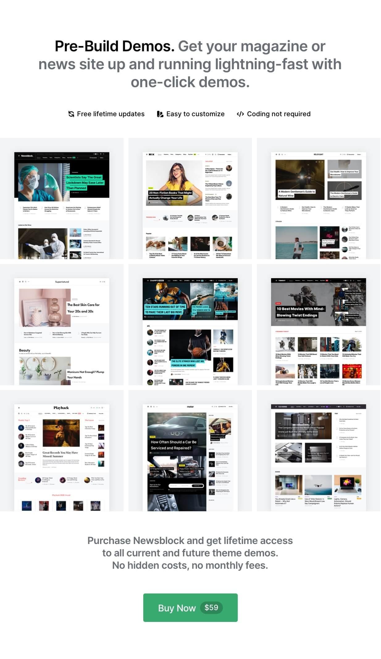 Newsblock - Magazine WordPress Theme with Dark Mode