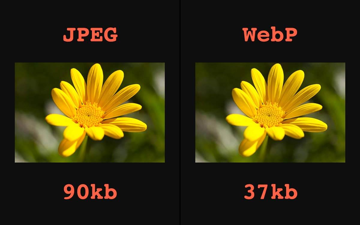 Sử dụng đinh dạng webp sẽ nhanh hơn jpg, png.