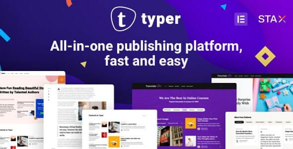 Typer – Multi Blogging Theme