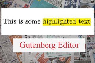 Tô sáng chữ trong một đoạn văn bản (highlight text Gutenberg Editor)