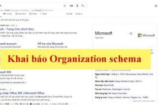 Khai báo Organization schema (Lược đồ dữ liệu của tổ chức)