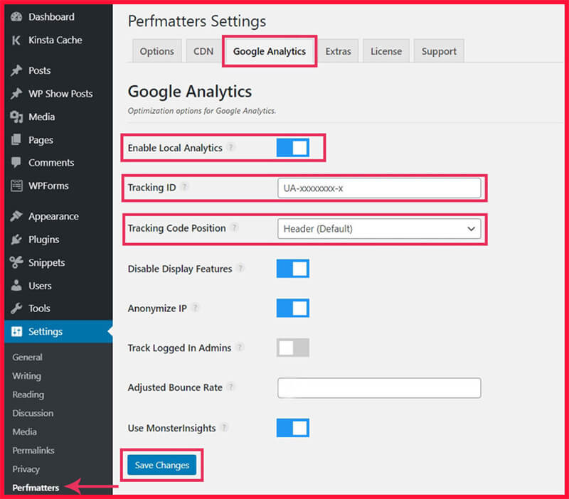 4 plugin google analytics wordpress giúp lưu trữ cục bộ trên website